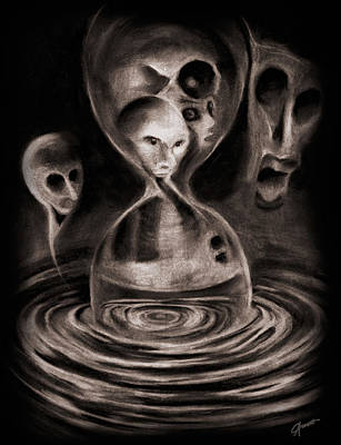 Hourglass Drawing - Hourglass by Courtney Averett