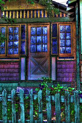 Hdr Photograph - House In Madrid New Mexico by David Patterson