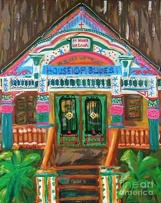 The Houses Mixed Media - House Of Blues by JoAnn Wheeler