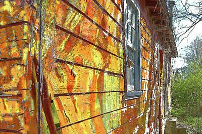 House Of Op Art Print by Larry Bishop