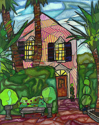 Piazza Drawing - House Of Pink by Michelle Brooksbank