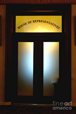 Window Signs Photograph - House Of Representatives by Olivier Le Queinec