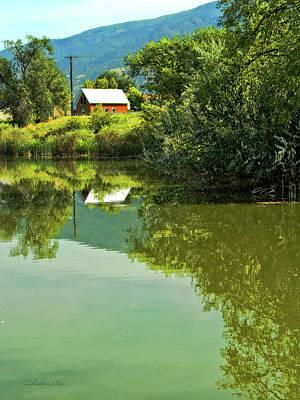 Landscape Photograph - House On Barton Pond by Dilectus Rex