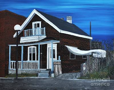 Montreal Painting - House On Hadley Street by Reb Frost
