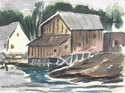 House On The River Print by Carol Helene