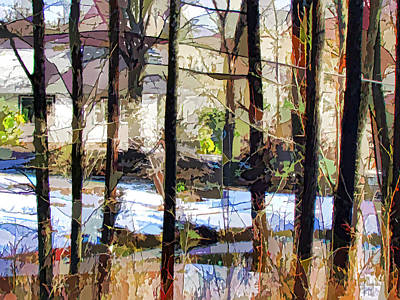 House Surrounded By Trees 2 Print by Lanjee Chee