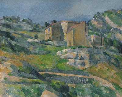 Houses In Provence The Riaux Valley Near L Estaque 1883 Print by Paul Cezanne