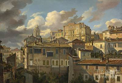 North Sea Painting - Houses In Rome by Celestial Images