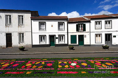 Houses In The Azores Print by Gaspar Avila