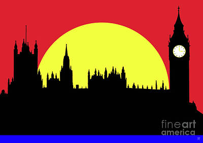Westminster Abbey Mixed Media - Houses Of Parliament by Neil Finnemore