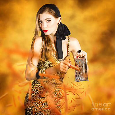 Wife Digital Art - Housewife Grating Carrots by Jorgo Photography - Wall Art Gallery