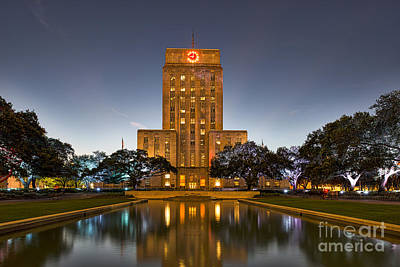 Texas Photograph - Houston City At Dark by Tod and Cynthia Grubbs