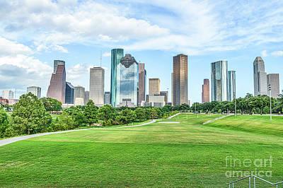 Houston Cityscape Print by Tod and Cynthia Grubbs