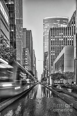 Transportation Photograph - Houston Rail Black And White by Tod and Cynthia Grubbs