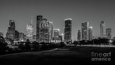Skylines Photograph - Houston Skyline In Black And White by Tod and Cynthia Grubbs