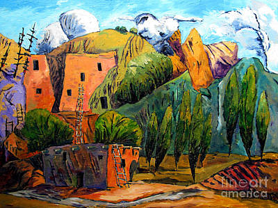 Canyon Painting - Hovenweep The Penthouse  by Charlie Spear
