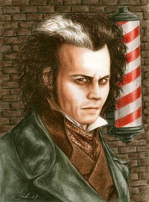 Johnny Depp Drawing - How About A Shave by Bruce Lennon