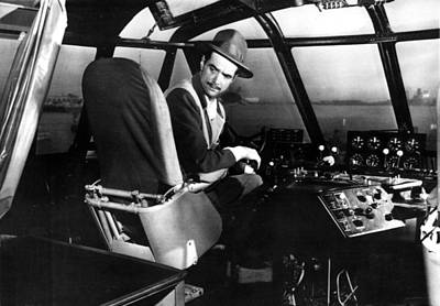 Eccentric Photograph - Howard Hughes, At The Controls by Everett