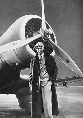 Aviator Print featuring the photograph Howard Hughes, Us Aviation Pioneer by Science, Industry & Business Librarynew York Public Library