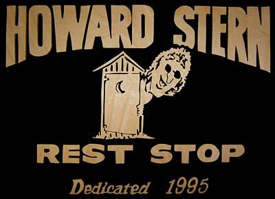 Scroll Saw Digital Art - Howard Stern Rest Stop by Michael Bergman