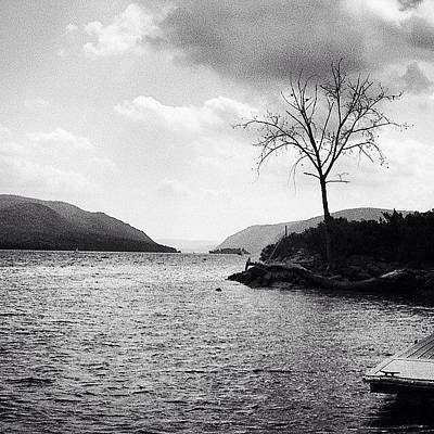 Hudson River Black And White Print by Victory  Designs
