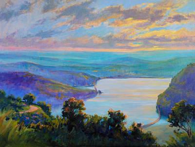 Hudson River Light Original by Linda Richichi