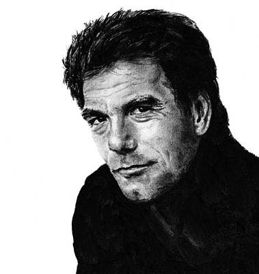 Huey Lewis Drawing - Huey  by Mary Anne Hjelmfelt