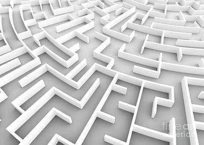 Challenge Photograph - Huge Maze. Business Strategy Concepts, Challenge, Problem Solving Etc. by Michal Bednarek