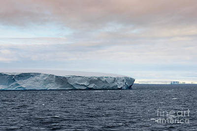 Mountain Photograph - Huge Tabular Iceberg Floating In Bransfield Strait Near The Northern Tip Of The Antarctic Peninsula by Dani Prints and Images