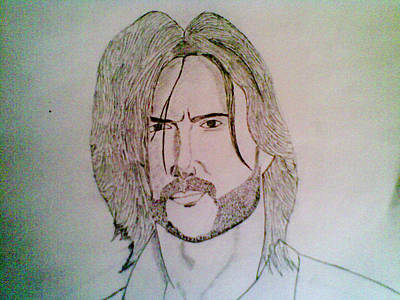 Drawing Drawing - Hugh Jackman by Vivek Raj