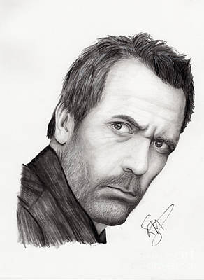 Markle Drawing - Hugh Laurie by Rosalinda Markle