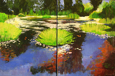 Painting - Hughes Water Garden by Melody Cleary