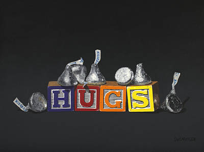 Manikins Painting - Hugs And Kisses by Tom Swearingen
