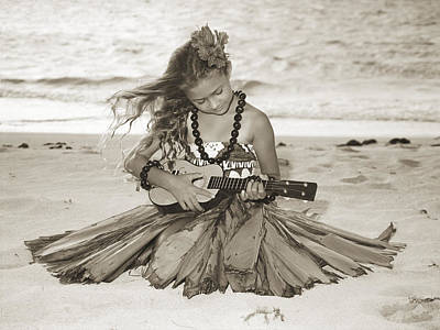 Ukulele Photograph - Hula Girl by Himani - Printscapes