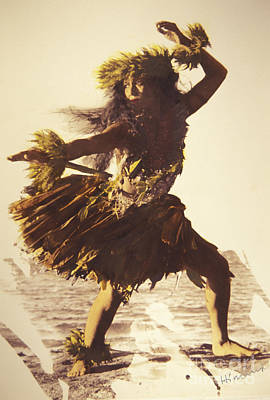 Hula In A Ti Leaf Skirt Print by Himani - Printscapes