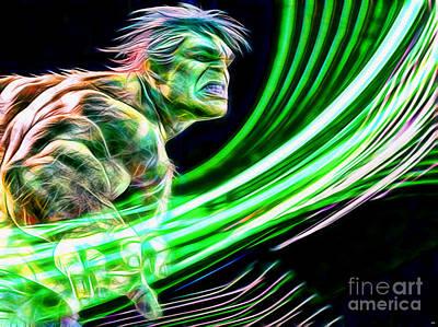 Hulk In Color Print by Daniel Janda