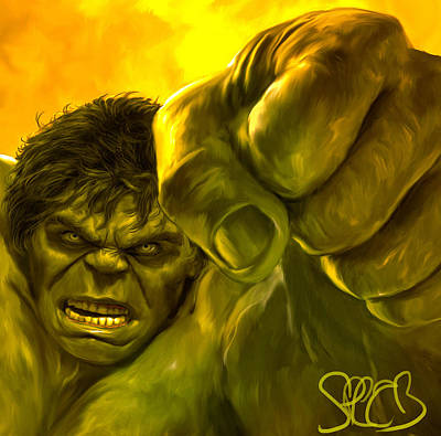 Hulk Print by Mark Spears