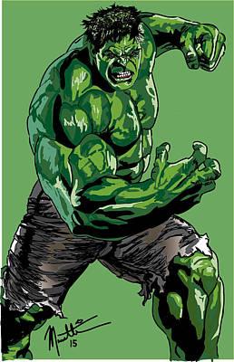 Incredible Hulk Digital Art - Hulk by Robert Massetti