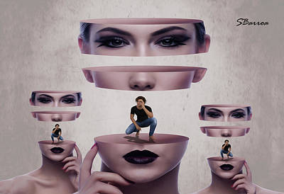 Soul Searching Digital Art - Human Relationship by Surreal Photomanipulation