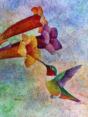 Hummingbird Painting - Hummer Time by Hailey E Herrera