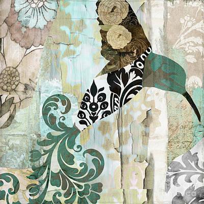 Hummingbird Painting - Hummingbird Batik II by Mindy Sommers