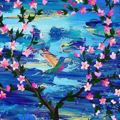 Hummingbird Drawing - Hummingbird by Cathy Jacobs