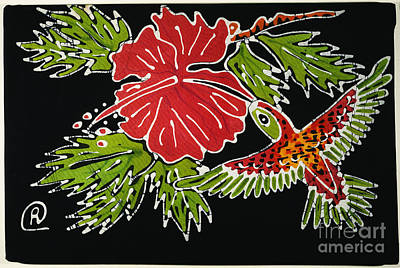 Batik Photograph - Hummingbird by Granger