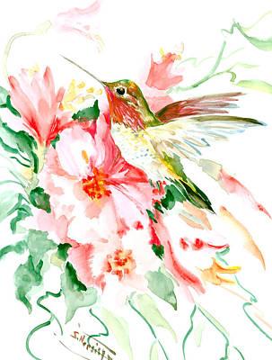 Hummingbird Drawing - Hummingbird Hawaii by Suren Nersisyan