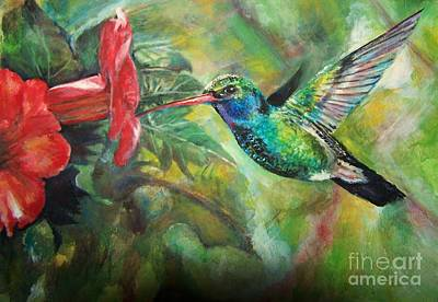 Painting - Hummingbird by Laneea Tolley