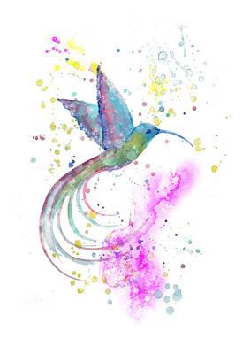 Digital Art - Hummingbird Magic by MelOn Design