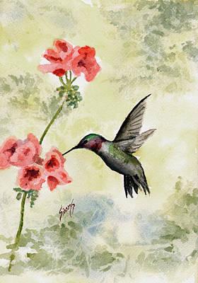 Hummingbird Painting - Hummingbird by Sam Sidders