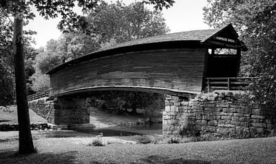 Wayside Photograph - Humpback Bridge In Black And White by Karen Wiles