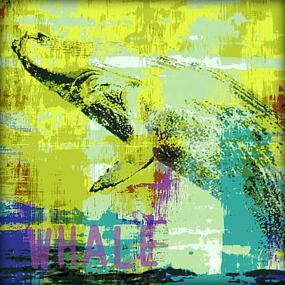 Whale Mixed Media - Humpback Whale V2 by Brandi Fitzgerald