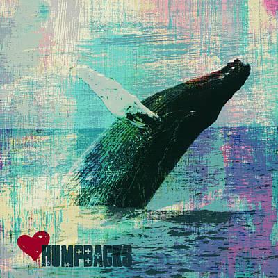 Whale Mixed Media - Humpback Whale V4 by Brandi Fitzgerald